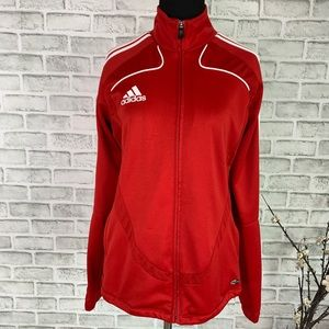 Adidas ClimaCool Training Jacket Full Zip Fire Red
